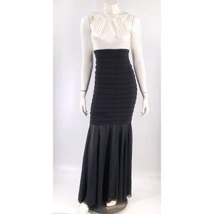 Xscape Joanna Chen Formal Dress Size 6 Ivory Black